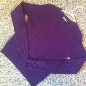 Ralph Lauren Polo purple cashmere sweater